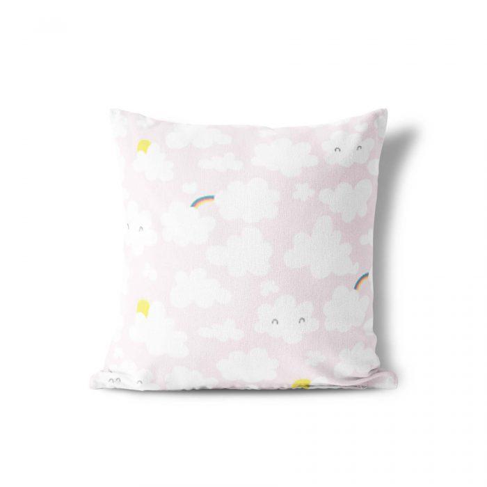 Sierkussen wolkjes roze Megan McNulty
