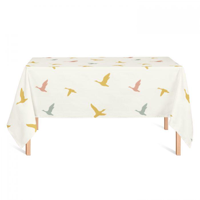 Tafelkleed vliegende vogels Fin & Stip