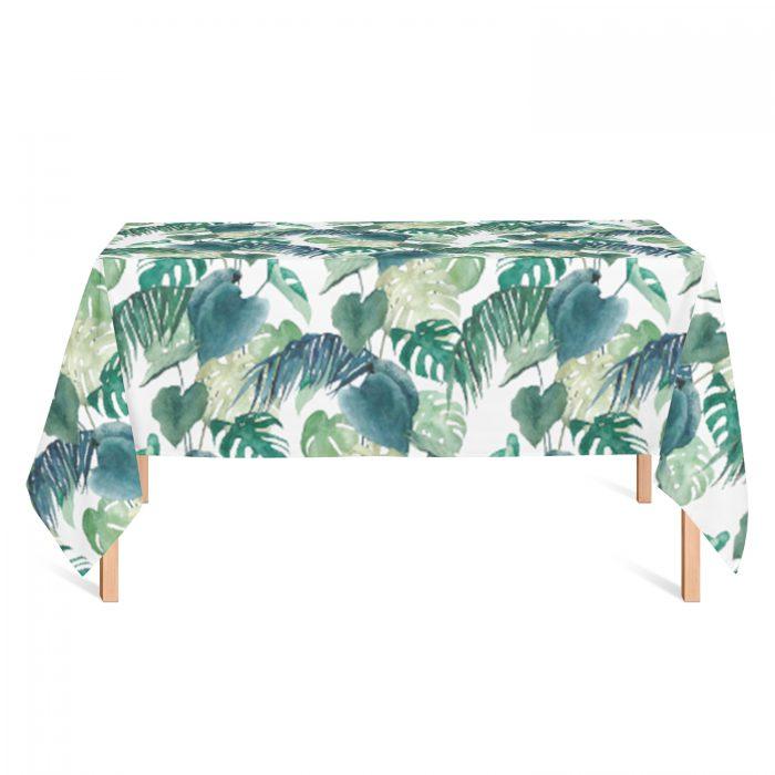 Tafelkleed botanische palm Isabella
