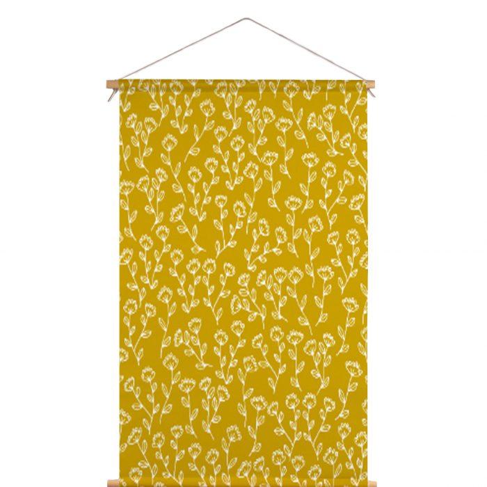 Textielposter bloemen Veronique de Jong