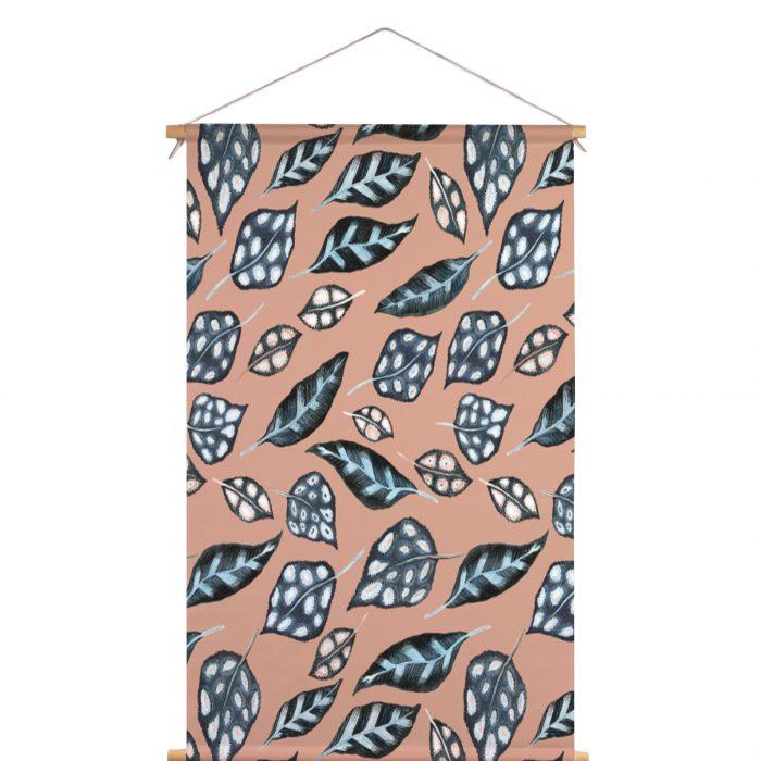 Textielposter bladeren Dorrith Rem