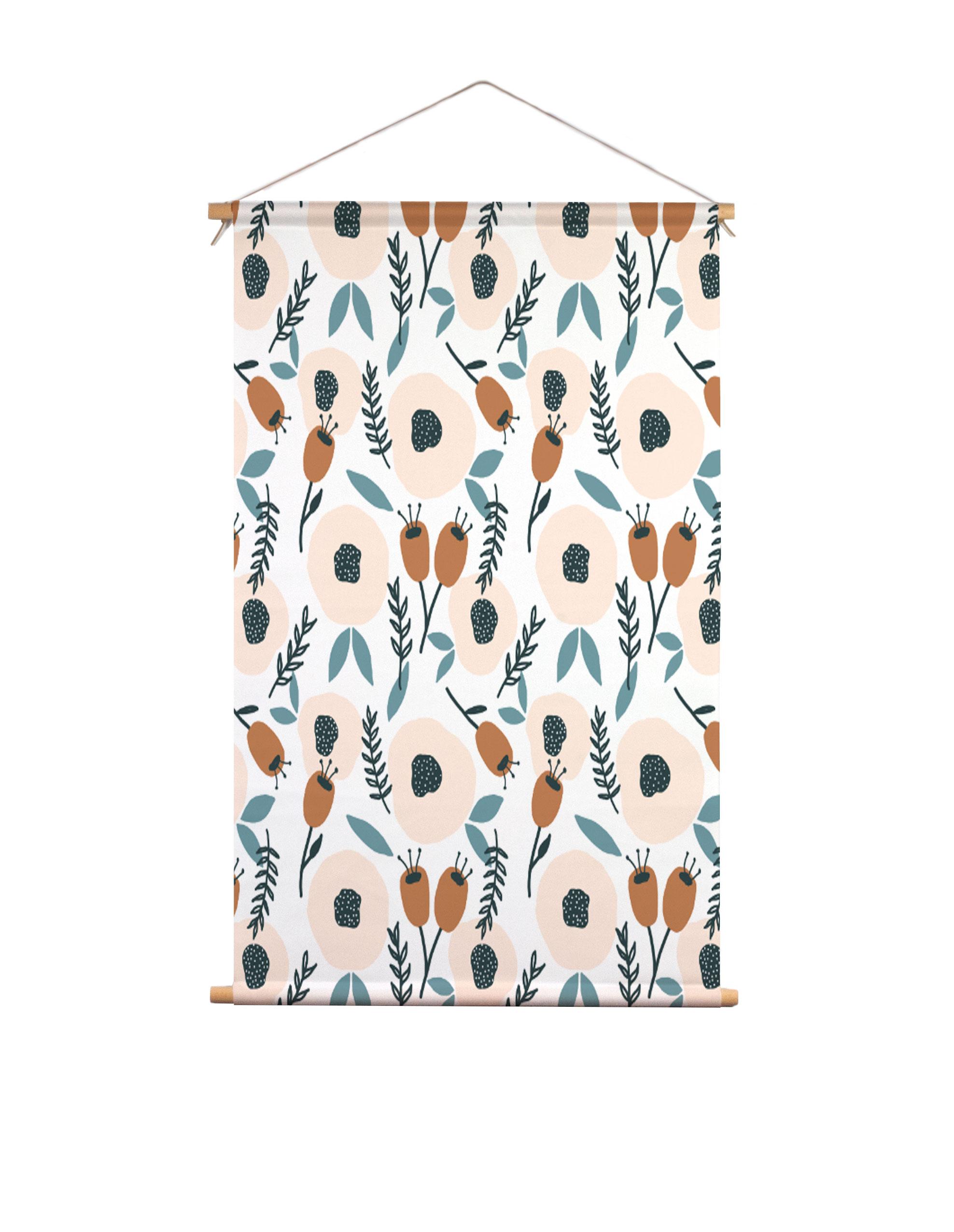 Textielposter-blushing-bloemen-Muchable