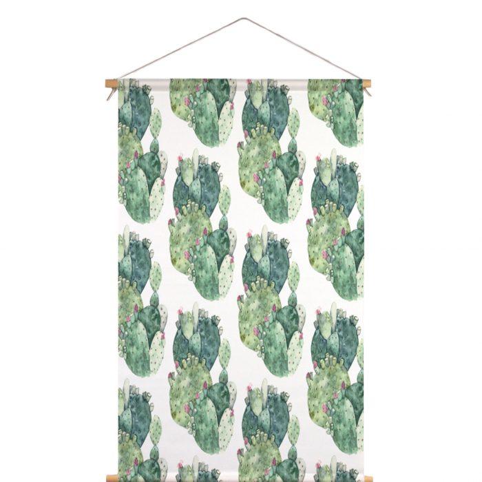 Textielposter groene cactus Isabella