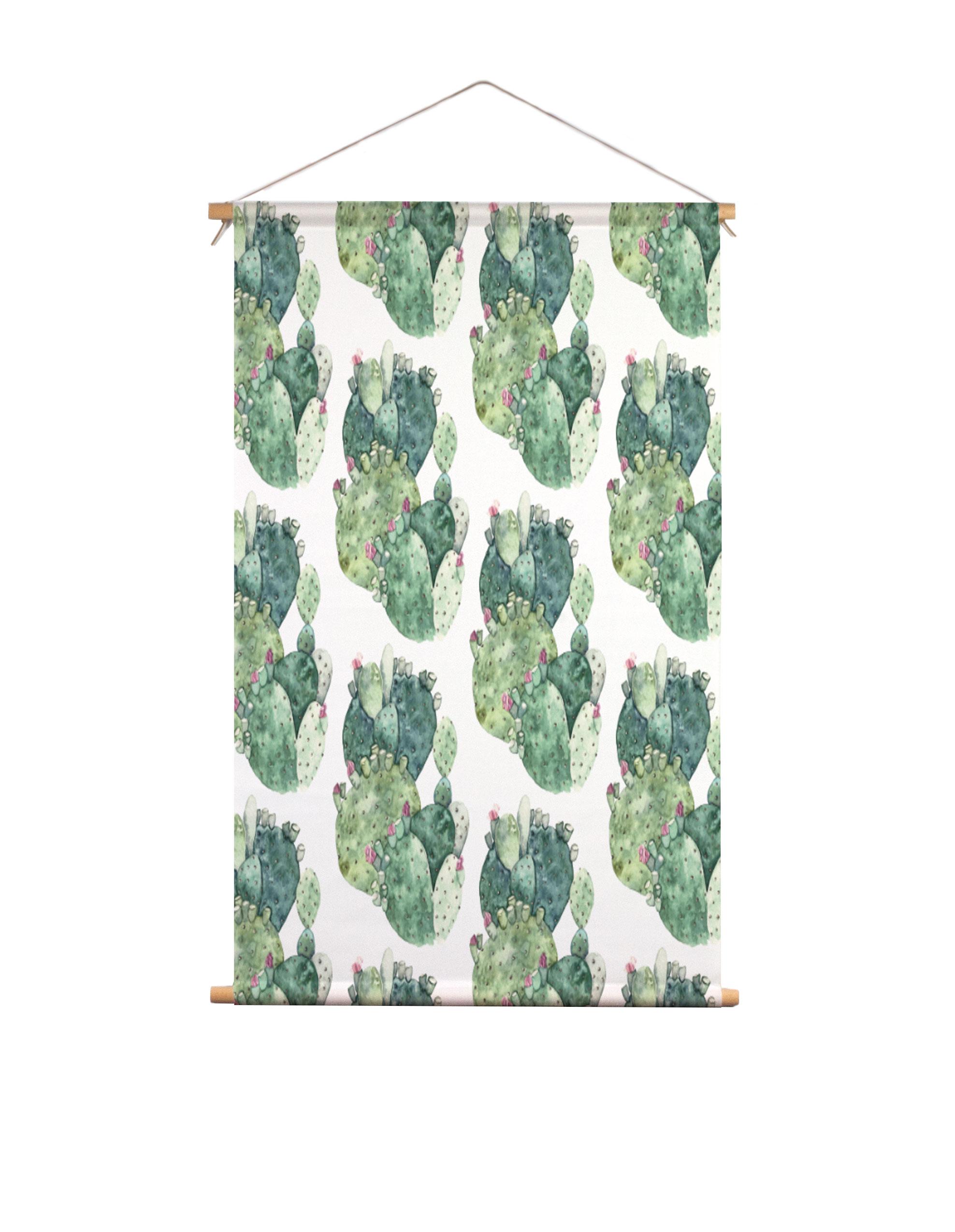 Textielposter-groene-cactus-Isabella