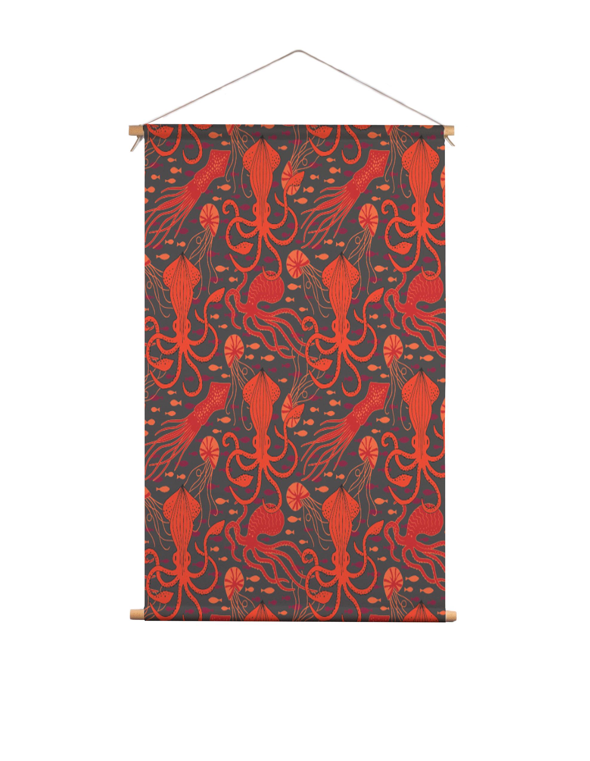 Textielposter-inktvis-HvdT-Designs