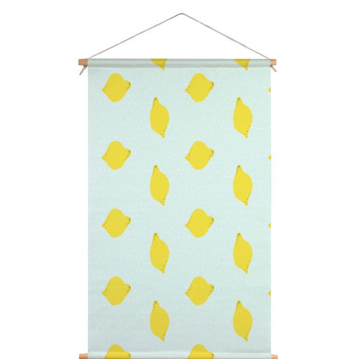 Textielposter lemon Megan McNulty