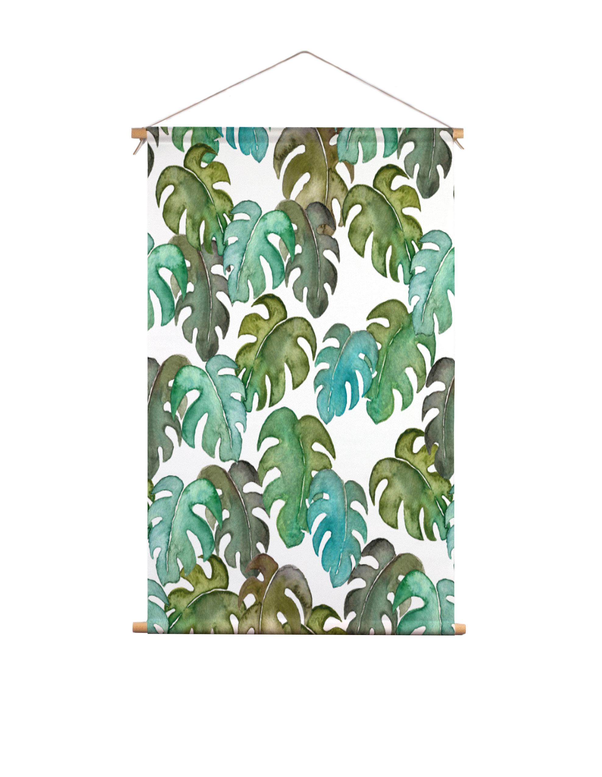 Textielposter-monstera-bladeren-Isabella