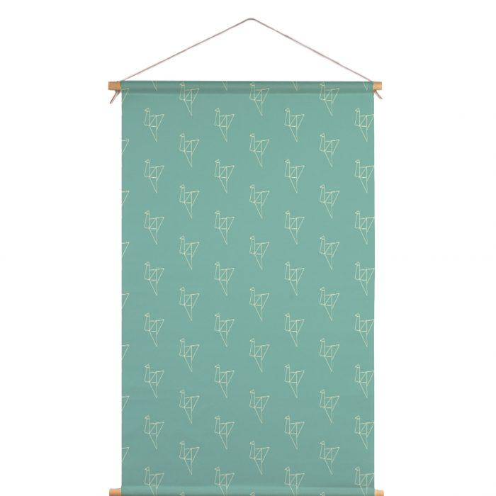 Textielposter origami vogel Studio Maas