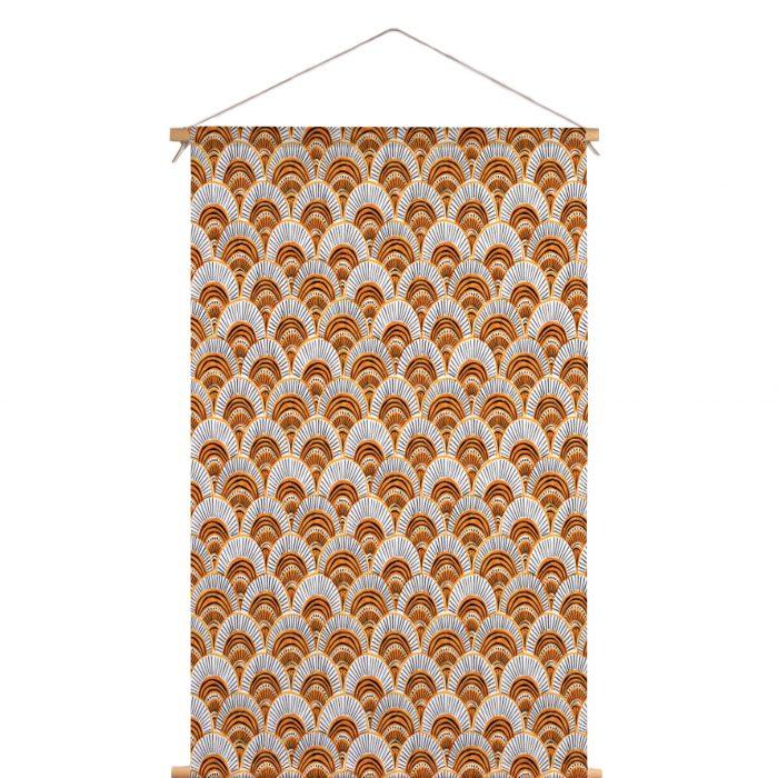 Textielposter pauw Veronique de Jong