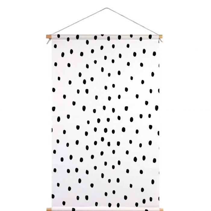 Textielposter stippen Piet & Kees