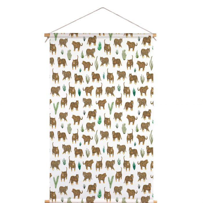 Textielposter tijger Veronique de Jong