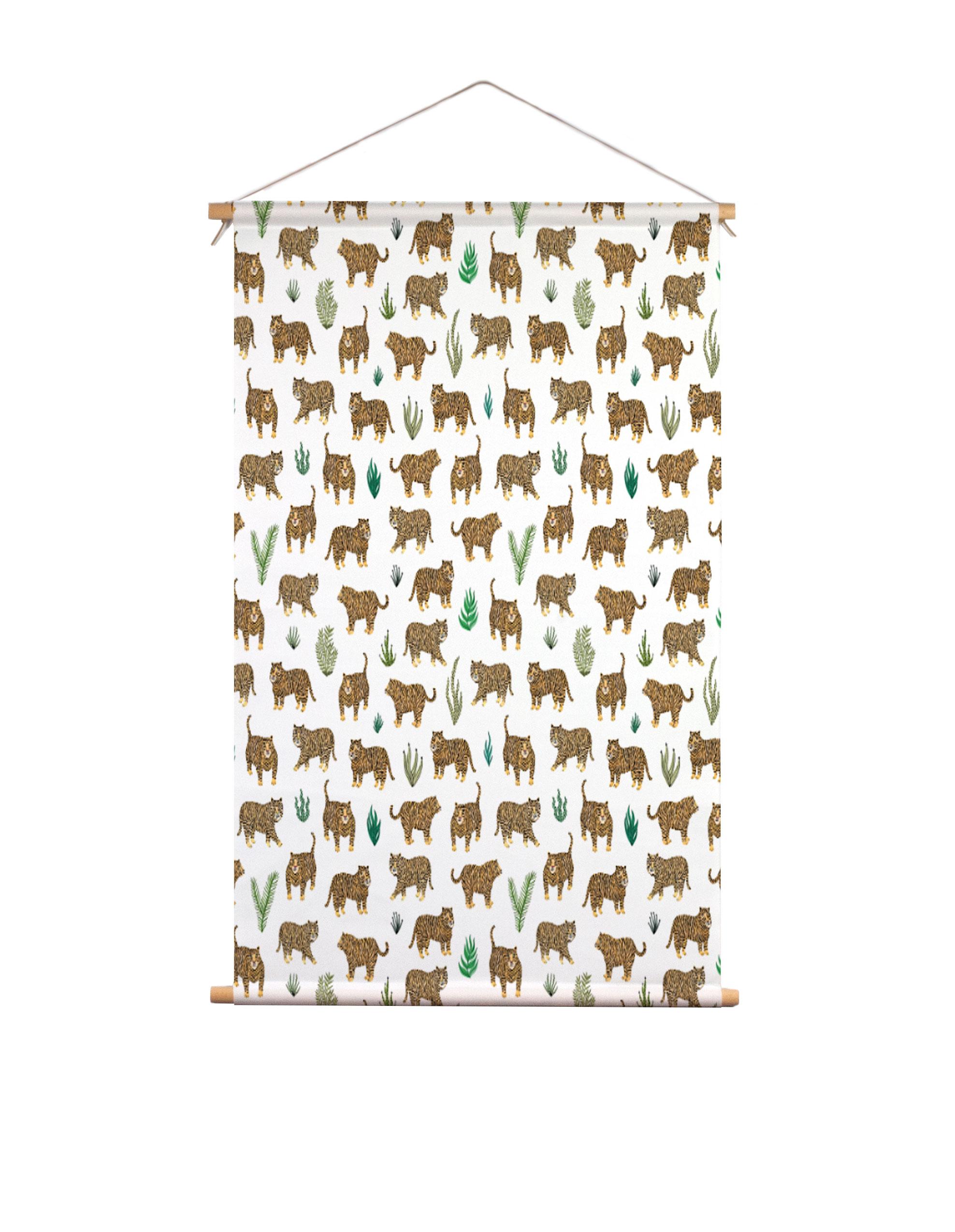 Textielposter-tijger-Veronique-de-Jong