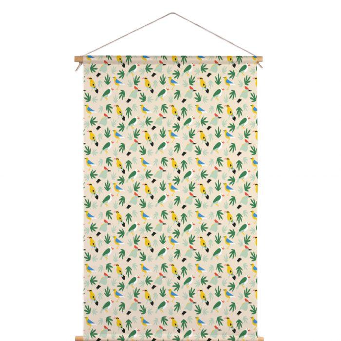 Textielposter topus birds Studio Jelien