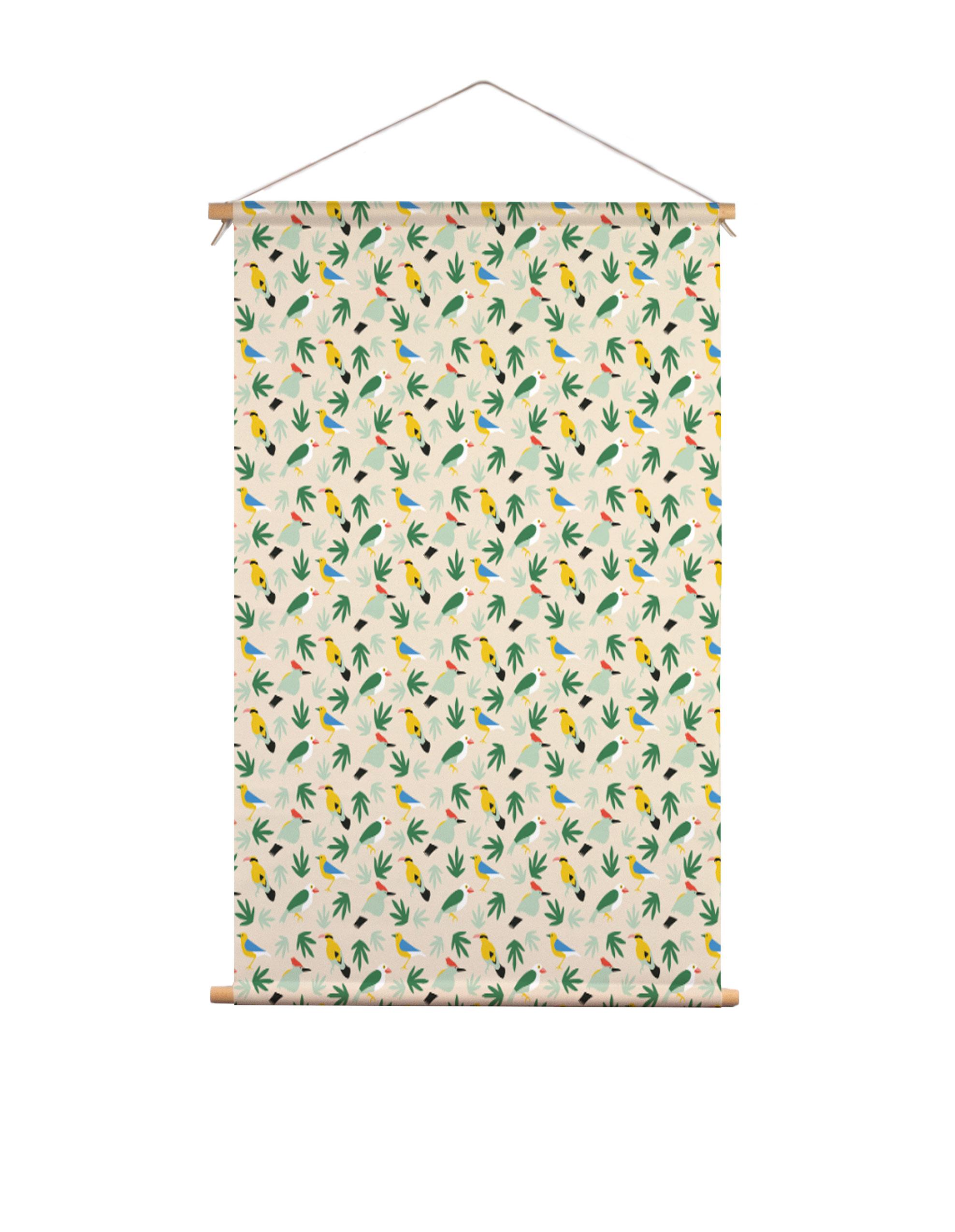 Textielposter-topus-birds-Studio-Jelien