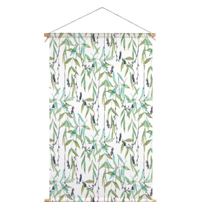 Textielposter tropische twijgen Isabella