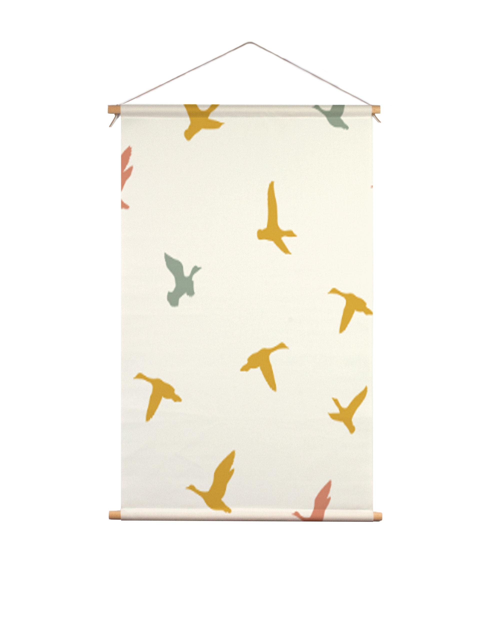 Textielposter-vliegende-vogels-Fin-&-Stip