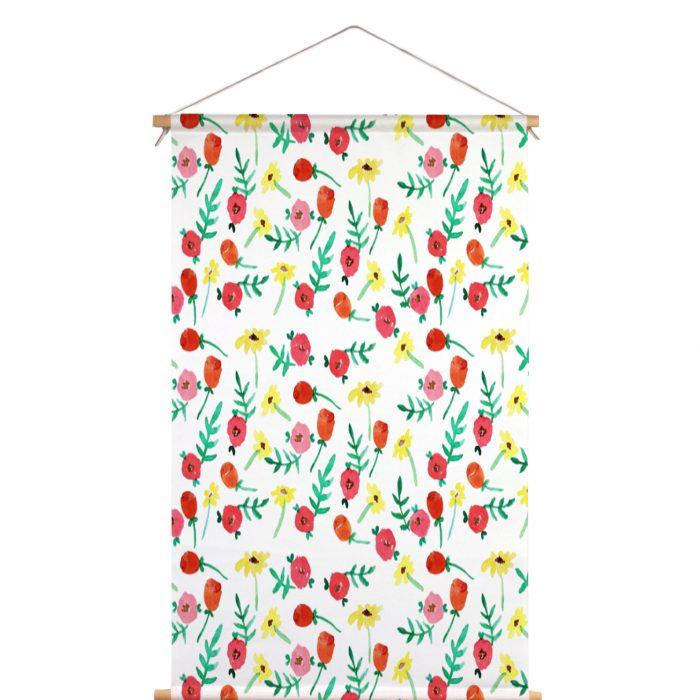 Textielposter waterverf bloemen Muchable
