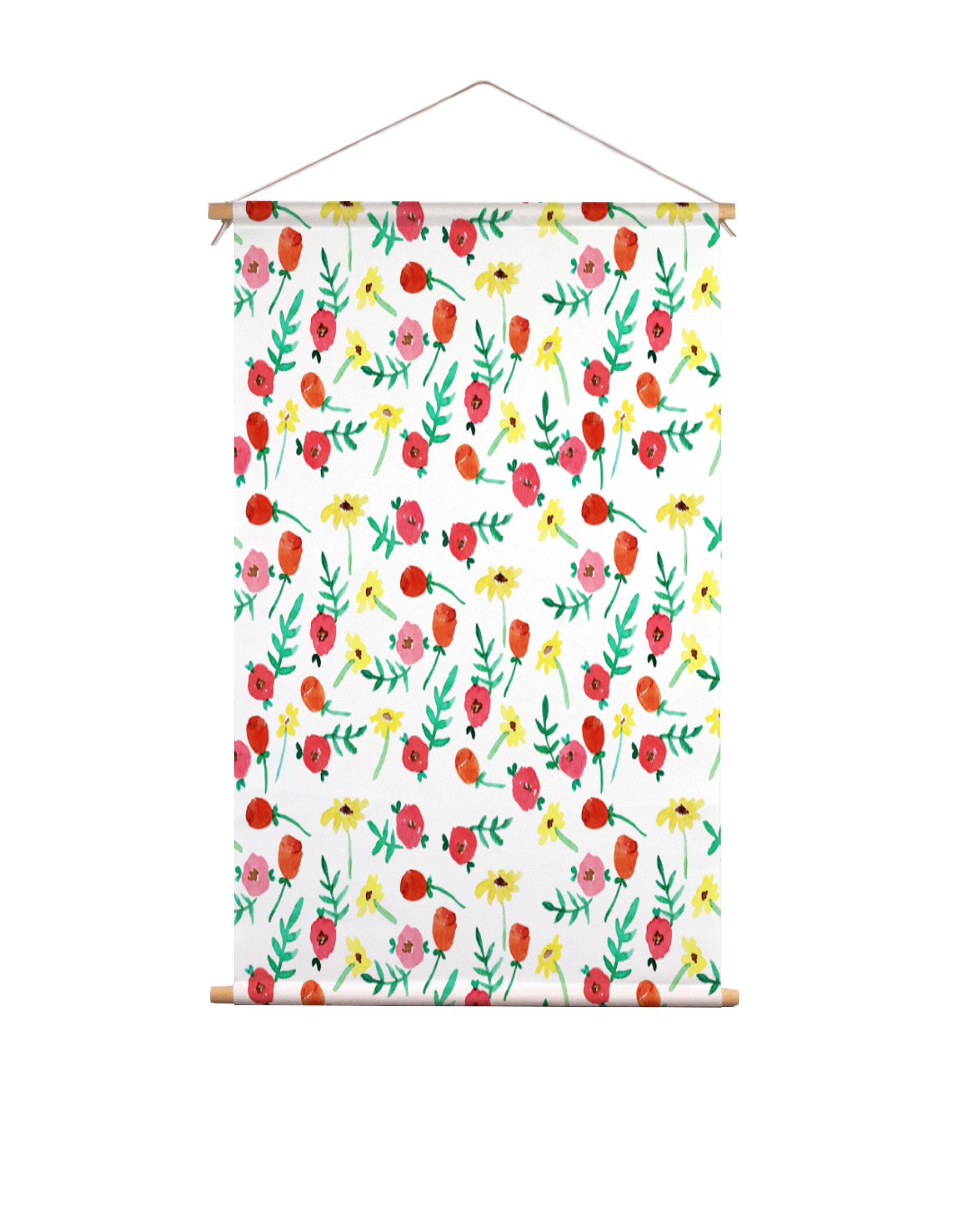 Textielposter-waterverf-bloemen-Muchable
