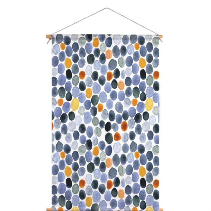 Textielposter waterverf stip Veronique de Jong
