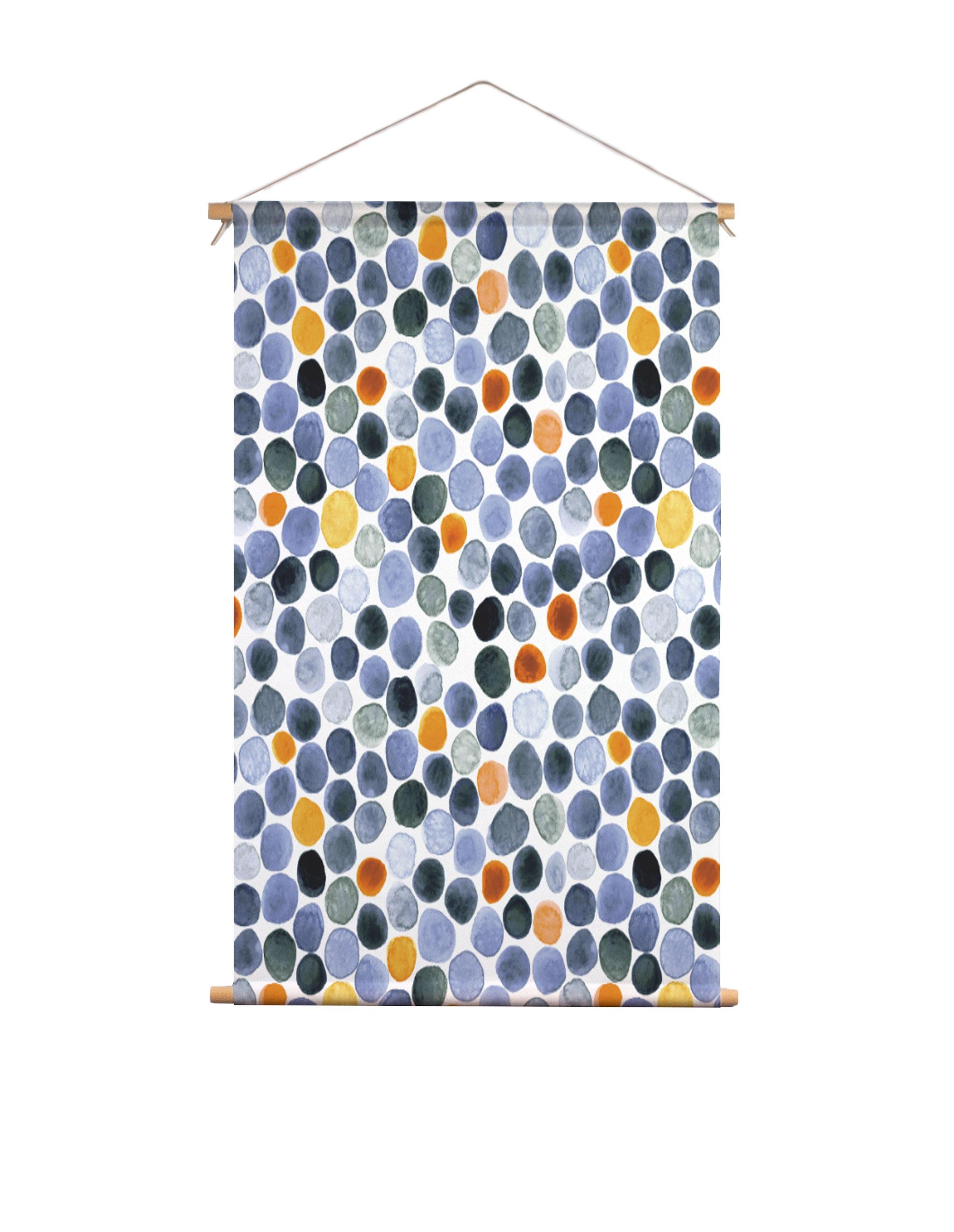 Textielposter-waterverf-stip-Veronique-de-Jong