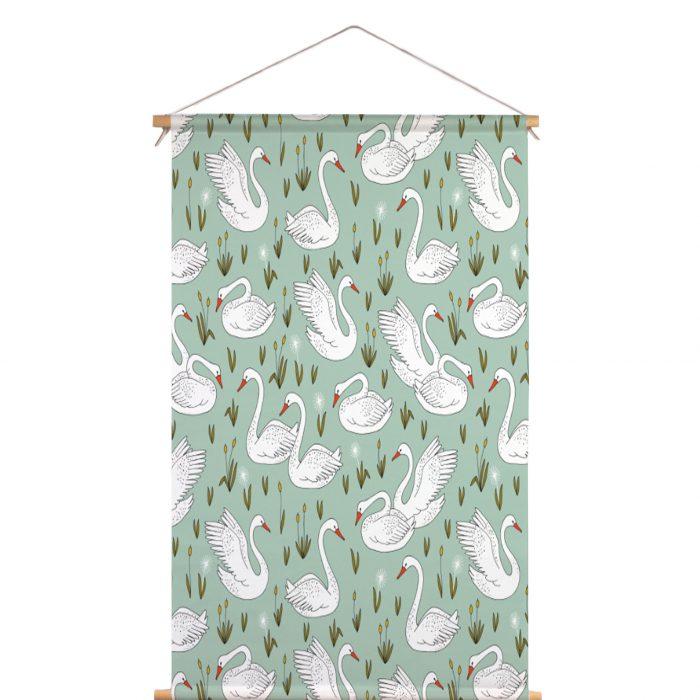 Textielposter zwanenvijfer HvdT Designs