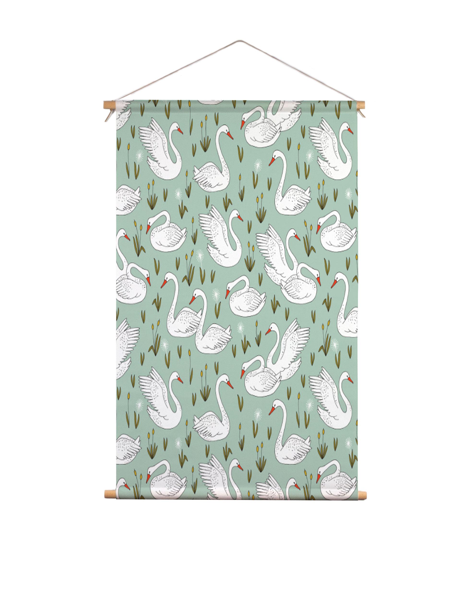 Textielposter-zwanenvijfer-HvdT-Designs
