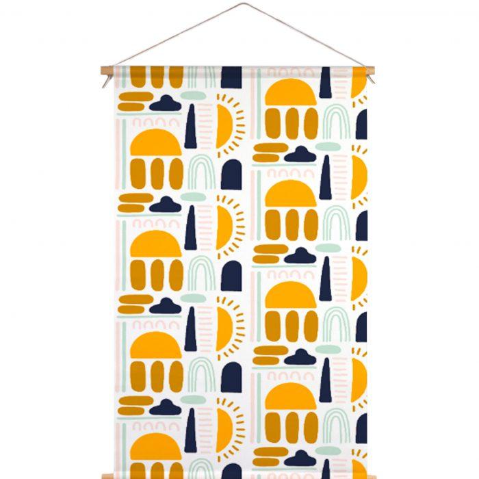 Textielposter regenboog Dirks Dotter x Muchable