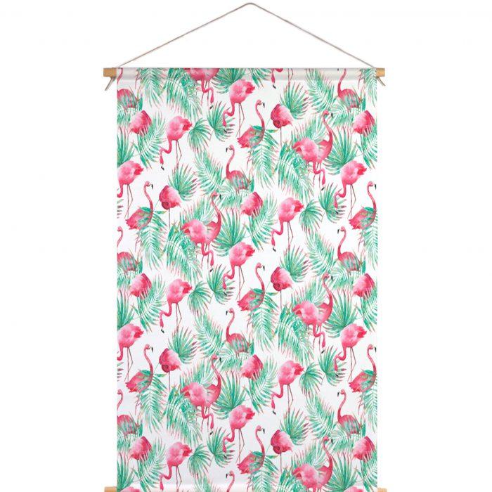 Textielposter flamingo paradijs Isabella