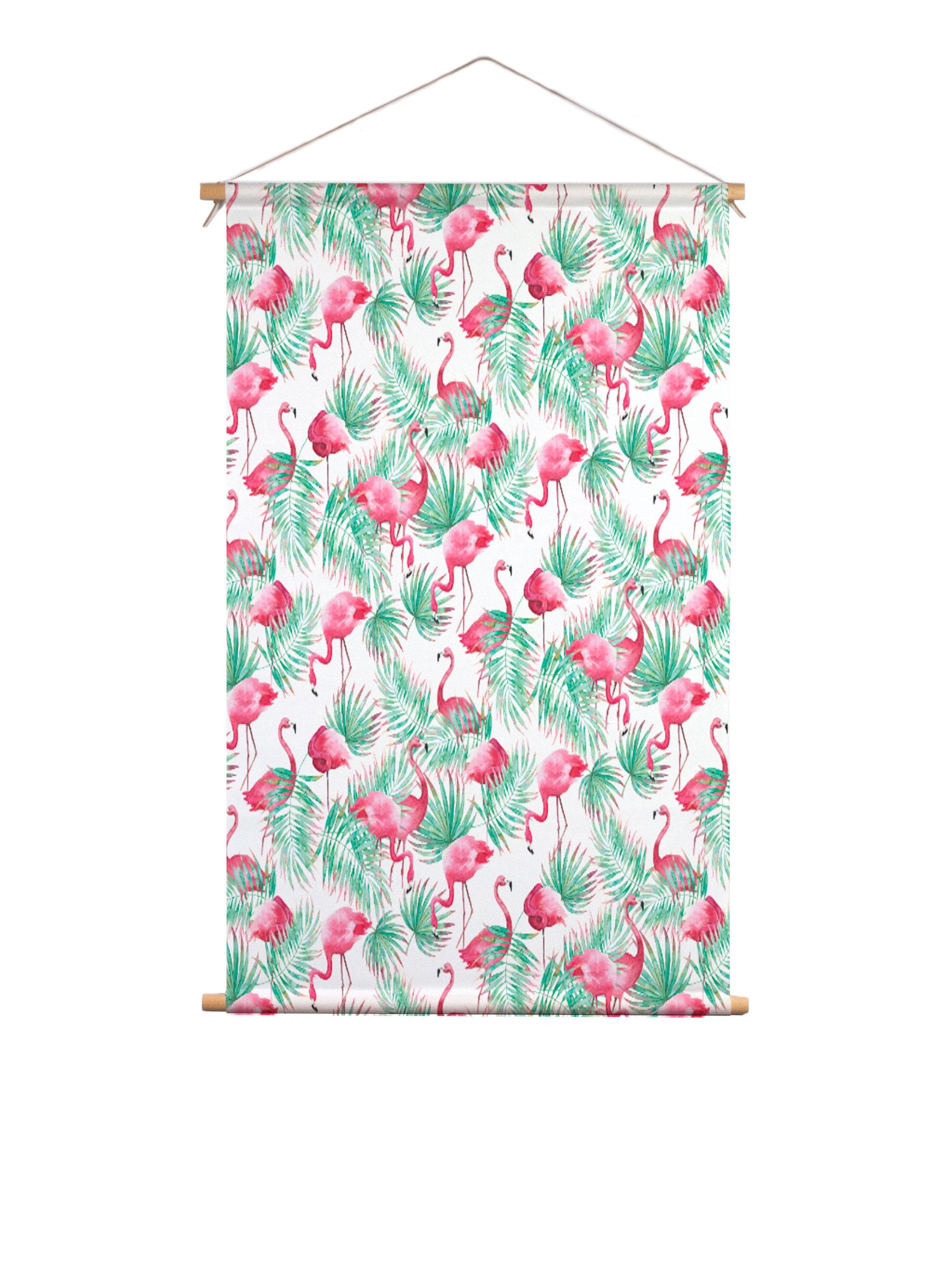 Isabella_FlamingoParadiseSmall_textielposter