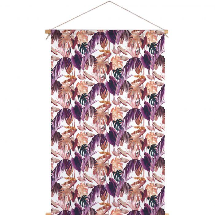 Textielposter aubergine palm Isabella