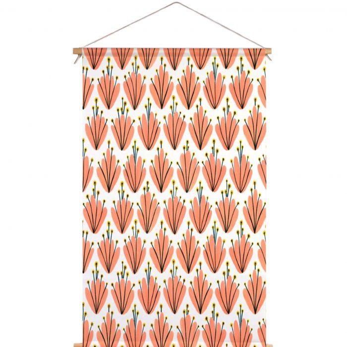 Textielposter cherry blussom roze Veronique de Jong