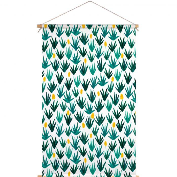 Textielposter Laura Palmer plant groen Veronique de Jong