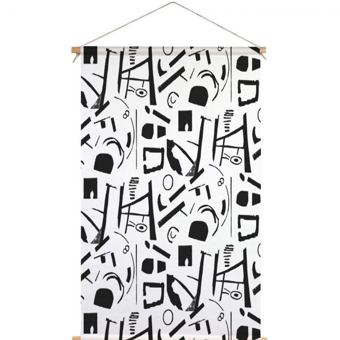 We Maqe textielposter zwart-wit art Sylvia Takken