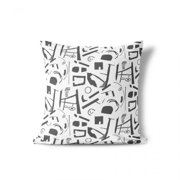 We Maqe tuinkussen zwart-wit art Sylvia Takken