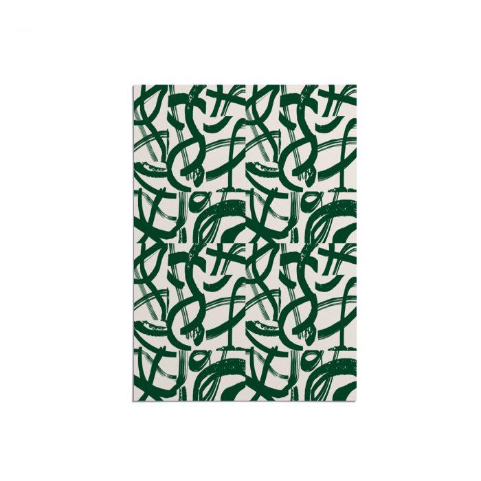 We Maqe poster groene strepen Sylvia Takken