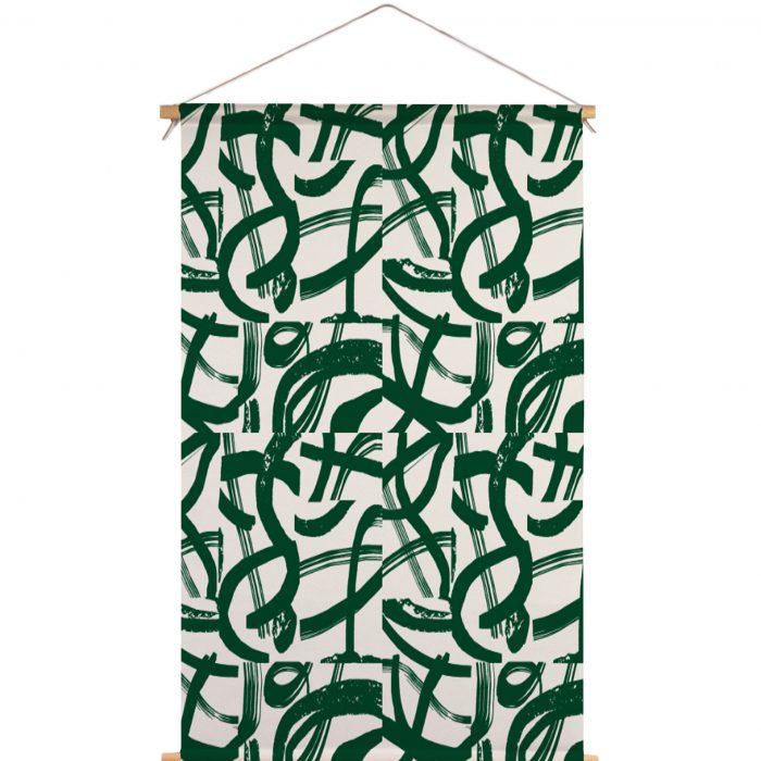 We Maqe textielposter groene strepen Sylvia Takken