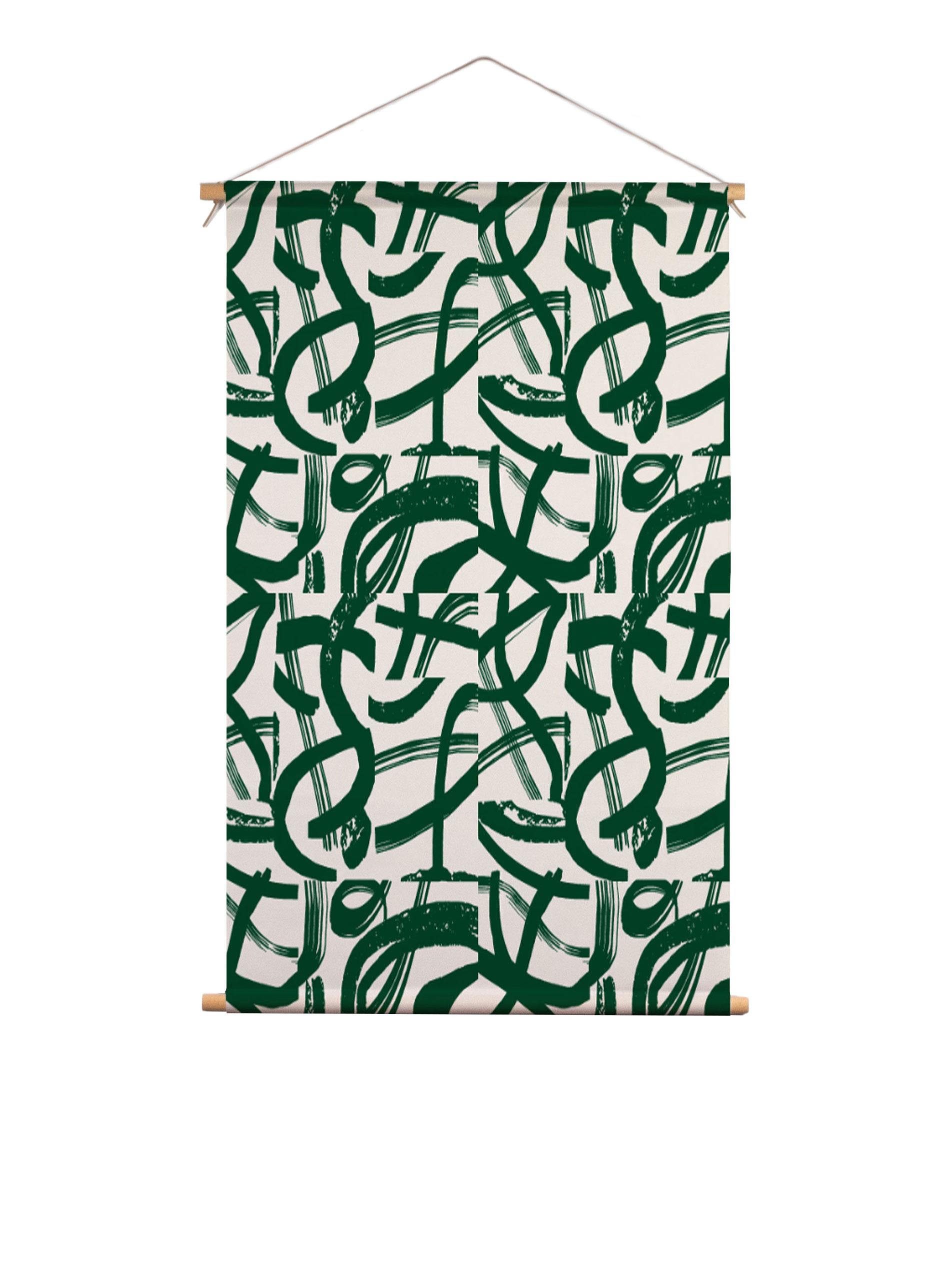 SylviaTakken_BrushCurveLines_textielposter