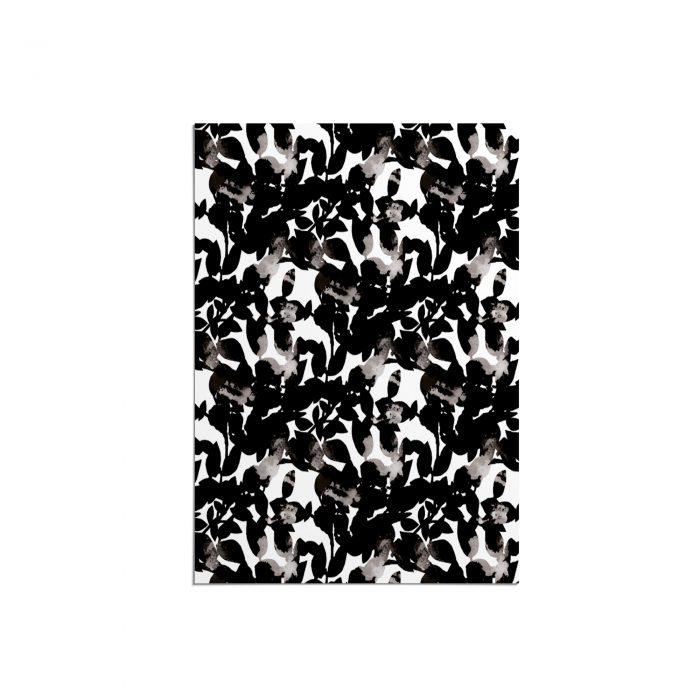 We Maqe poster grafische bladeren zwart-wit Sylvia Takken