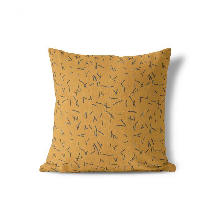 We Maqe tuinkussen abstracte streepjes bruin Sylvia Takken