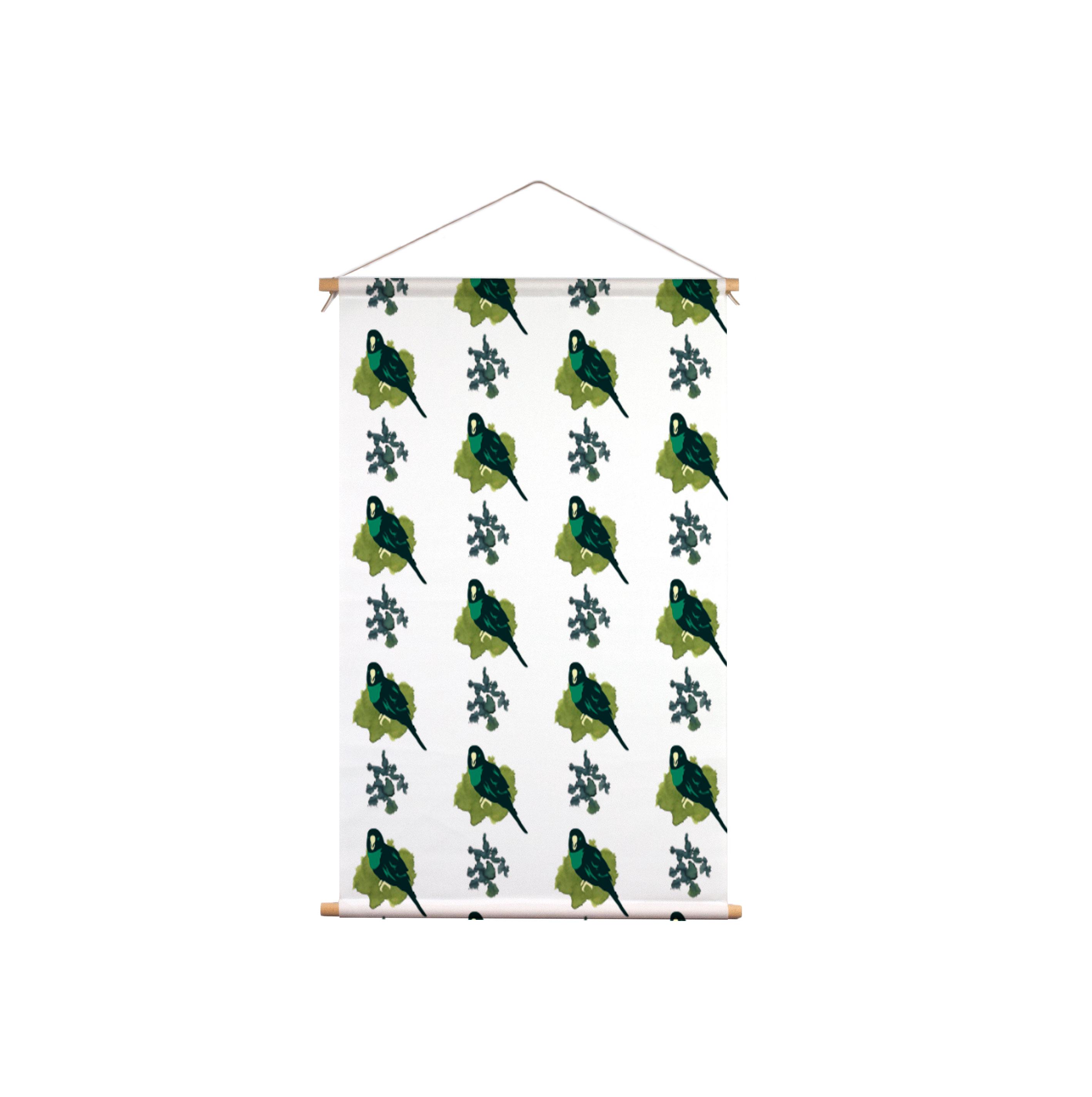 We-Maqe-Exotische-Tropical-Bird_Textielposter