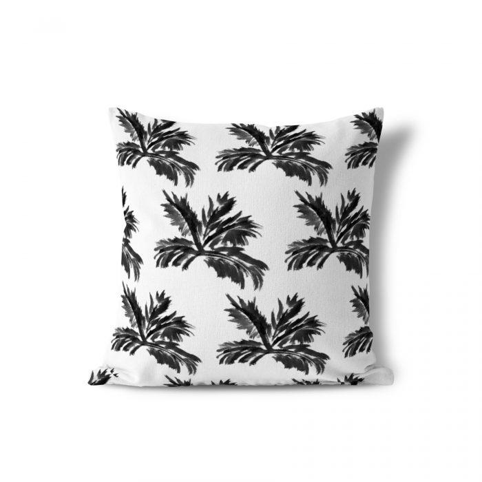 We Maqe sierkussen Palm Silhouette zwart